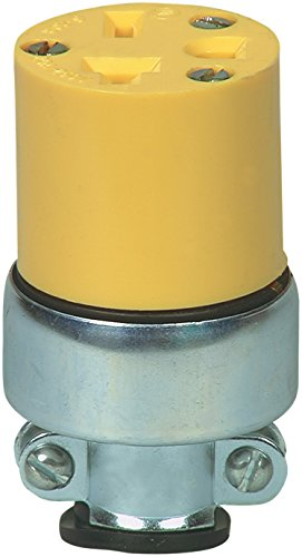 Vinyl Commercial Grade - Eaton 2229 20 Amp 250V 6-20 Commercial Grade Vinyl Armored Connector