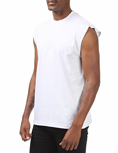 ccf81d270 Pro Club Men's Heavyweight Sleeveless Muscle T-Shirt, Snow White, 2X-Large