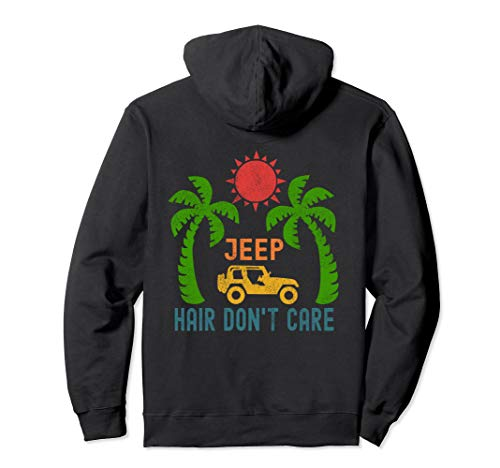 Women Jeep-Hair Don't Care Jeeps Beach Jeeps Offroad Jeeps Pullover Hoodie