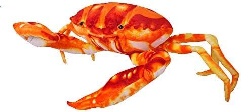 ChicChic カニ ぬいぐるみ 海洋動物 リアルおもちゃ 抱き枕 可愛い ふわふわ 寝具 インテリア お誕生日 ギフト (63cm)
