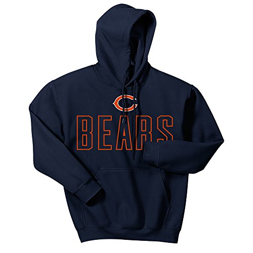 Chicago Bears Nfl Jersey - Zubaz NFL Chicago Bears Men's Open Letter Logo Hoodie, X-Large, Navy