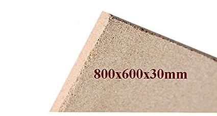 1x30mm Vermiculita Placas tableros de protección de Incendios 800x600x30mm schamotte Repuesto