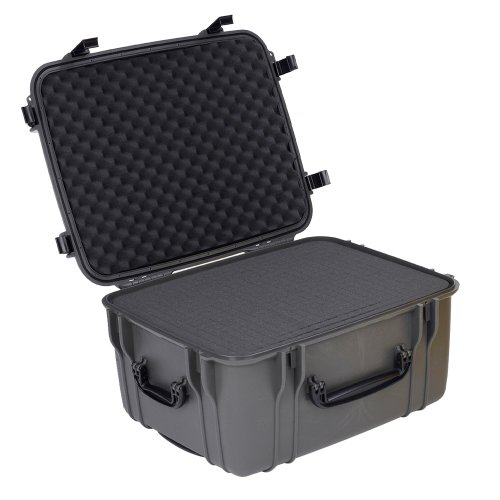 Seahorse SE1220 Protective Wheeled Case with Foam (Gun Metal) (Case Waterproof Seahorse)
