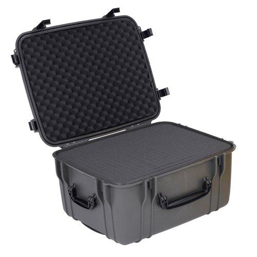 Seahorse SE1220 Protective Wheeled Case with Foam (Gun Metal) (Seahorse Waterproof Case)