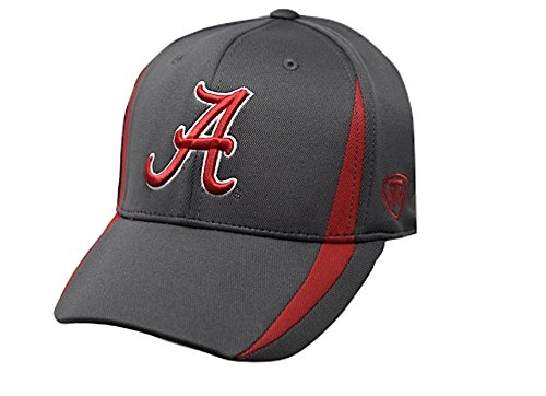 Top of the World Alabama Crimson Tide Men's Fitted Hat Icon, Charcoal, One Fit