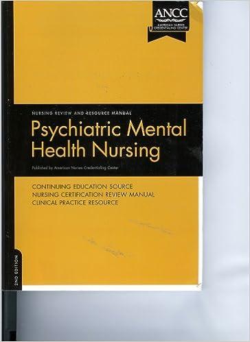 Amazon Com Psychiatric Mental Health Nursing Review And Resource