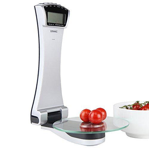 Duronic KS4000 Wand montierbare Küchenwaage mit Digitalanzeige bis zu 3 kg und 2 Jahre Garantied 2 Jahre Gewährleistung