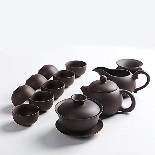FEYCJT - Juego de Tazas de té con Arena Morada y Tetera o cafetera ...