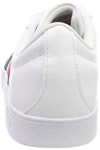 adidas VL Court 2.0, Chaussures de Gymnastique Homme Multicolore (Ftwr White/collegiate Navy/core Red S17 Ftwr White/collegiate Navy/core Red S17)