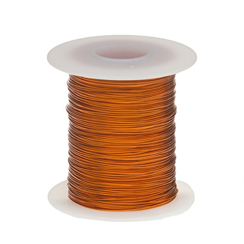 Magnet Wire, Enameled Copper Wire, 18 AWG, 2 oz, 25' Length, 0.0428