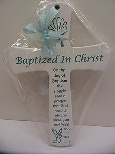 N1943BL Hand Crafted Blue Baby Baptism Cross