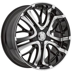 Incubus Paranormal 20x8.5 Black Wheel / Rim 5x115 & 5x120 with a 35mm Offset and a 74.10 Hub Bore. Partnumber 500285055+35GBM