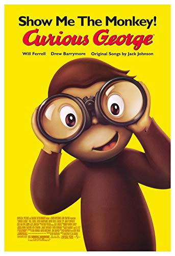 (CURIOUS GEORGE MOVIE POSTER 2 Sided ORIGINAL 27x40 WILL FERRELL)