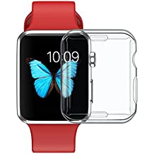 E-ZT Apple watch case, Iwatch 3, 2, 1 screen protector all-around tpu protective hd clear ultra-thin cover comparable for new apple watch series (42mm)