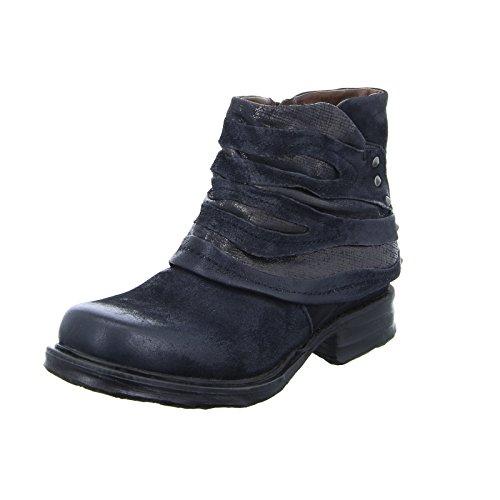 A.S.98 259207 Damen Stiefelette Low-Boots Western Leder Reißverschluss Nero/Black