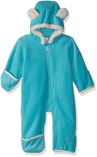 Fleece Bunting - Columbia Unisex Baby Infant Tiny Bear II Bunting, Geyser, 3/6