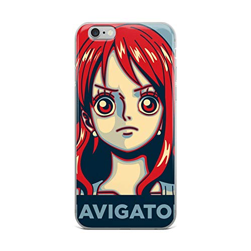 (iPhone 6 Plus/6s Plus Case Anti-Scratch Japanese Comic Transparent Cases Cover Navigator Nami's Occupation at The Straw Hat Pirates Anime & Manga Graphic Novels Crystal Clear)
