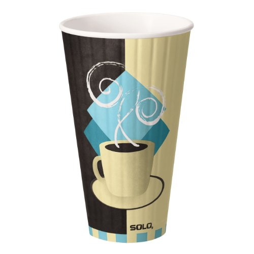 Solo IC24-J7534 24 oz Tuscan Cafe Duo Shield insulated Paper Hot Cup (Case of 500) by Solo Foodservice