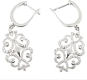 Eva Diamond Earrings, White