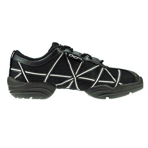 Baskets Capezio DS19 Web - Noir/Argent Taille 35