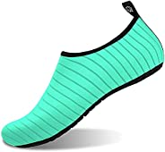 Rokiemen Womens Mens Water Sports Shoes Barefoot Aqua Shoes Skin Sock Shoes Quick-Dry for Dive Surf Swim Yoga