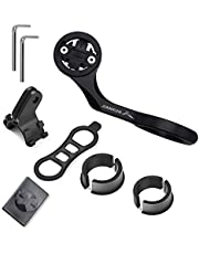 Bike Computer Combo Out Front Mount for Garmin Edge Series,Smart Phone,Front Bike Light and Gopro Sports Camera,Compatible with 22.2/25.4/31.8mm Handlebar (Black)
