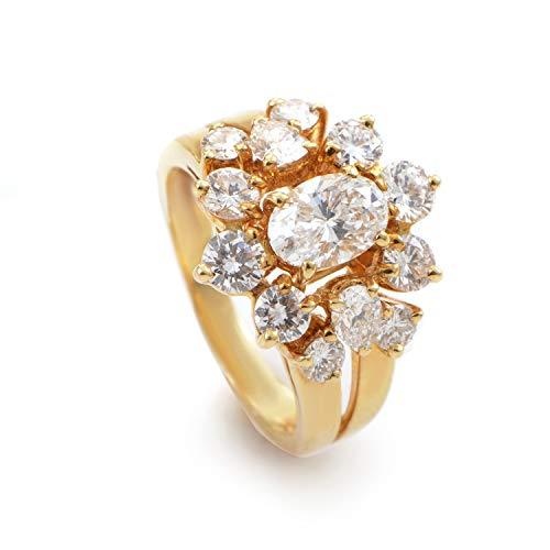 Chaumet 18K Yellow Gold Diamond Cluster Ring ()