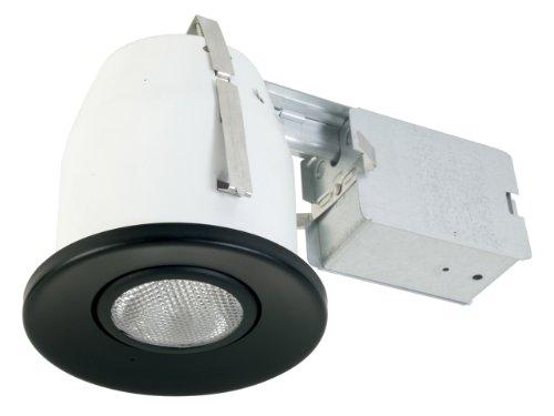 Eurofase TH-P21-01 4-Inch Convex Gimbal PAR20 Housing/Trim Kit, Black