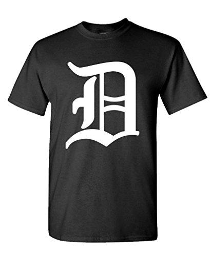 Big D - Hip hop Rap Detroit Baseball - Mens Cotton T-Shirt, 2XL, Black