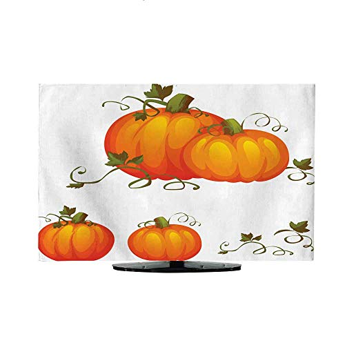 Hanging Type tv Cover Fresh Two Pumpkin with Sweet Green leafs30/32