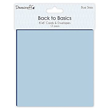 Dovecraft, Back to Basics, Collezione Blue Skies, decorazioni in carta, Carta, Blue, Accordion Stickers Trimcraft DCTOP019