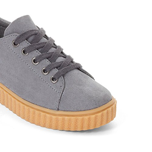 La Redoute Collections Mdchen Plateausneakers in Veloursoptik, Gr. 2639 36