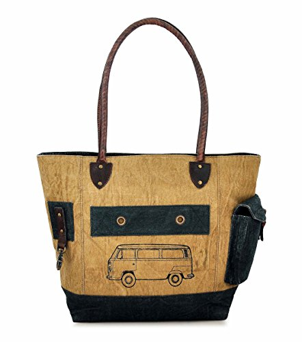 by Van Canvas for body Vintage Trims Daphne Women Work Girls Leather bag Purse Shopper Backpack Hobo Tote Messenger Travel Cross Shoulder 1RqwRABnTx