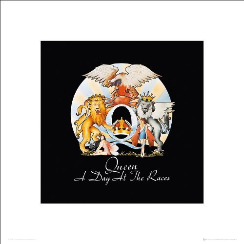Culturenik Queen a Day at The Races Album Cover Classic Rock Music Print 3593 (16x16 Unframed - Day Race Cover