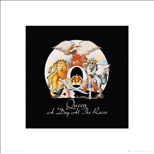 Culturenik Queen a Day at The Races Album Cover Classic Rock Music Print 3593 (16x16 Unframed - Cover Album Rock