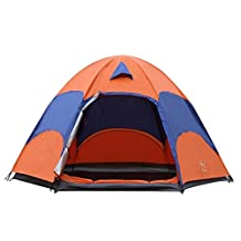Hengfey Waterproof Dome Tent Double Layer Outdoor Camping Tent 4 Season for 3-5 Person