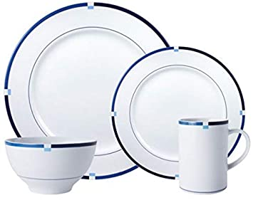 Mikasa Jet Set Blue Dinnerware Set 32 Piece