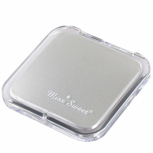 Miss Sweet Compact Mirror for Purse Pocket Mirror True image&5X magnification (Silver)