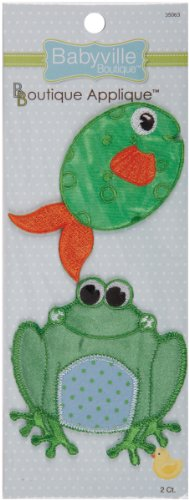 Babyville Boutique Appliques, Frog and Fish, 2 (Fish Applique Pattern)
