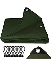 Sekey Afdekzeil met oogjes 3x4m, 200 g/m² PE zeildoek met zeilspanner, multifunctioneel dekzeil beschermend zeil voor zwembad hout auto tuinmeubelen waterdicht & scheurvast, groen