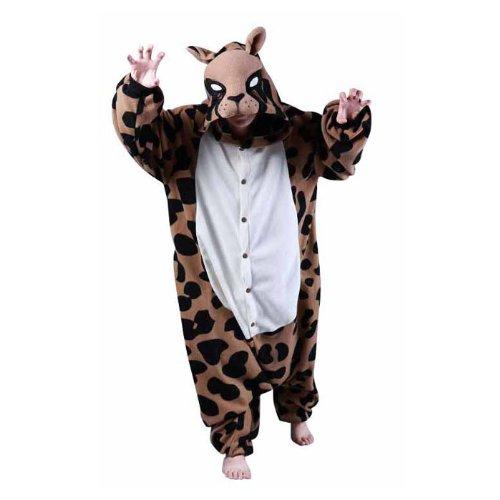 Bcozy Costumes Amazon (Bcozy Leopard Onesie/Body Suit, Tan/Black, Adult (M))