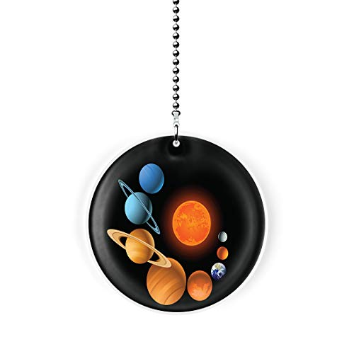 Gotham Decor Nine Planets Swirl Fan/Light Pull