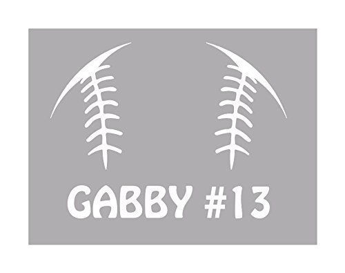 Baseball/Softball Custom Name Yeti Tumbler Decal