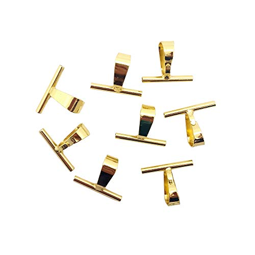 Jewelry Made By Me Brooch Convert to Pendant Large Gold, 8 -