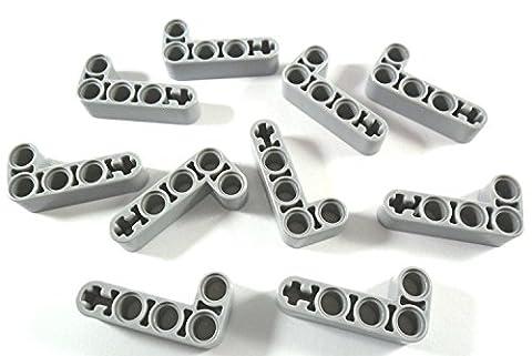 LEGO Technic: Light Bluish Gray Liftarm 2 x 4 L-Shape Thick - x10 Loose - Sand Mad Cat