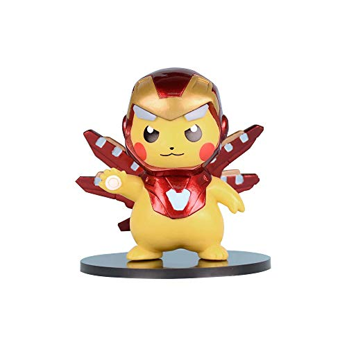 Pikachu Cosplay Avengers-Series Figure Collectible Model Action Toys Anime Gifts (Iron-Man)