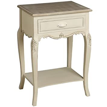 Shabby chic french style country 1 drawer bedside table lamp shabby chic french style country 1 drawer bedside table lamp table end table mozeypictures Images