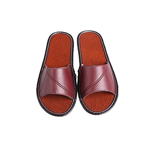 Wine Women Chaussons pour Red TELLW Femme faxIt8qaw