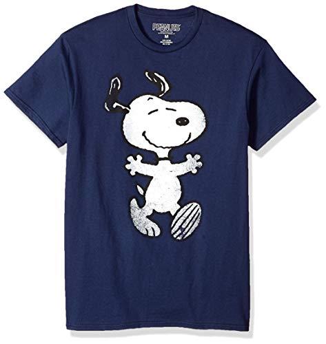 Peanuts Snoopy Hug Men's Navy T-Shirt L