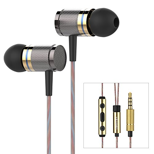 Betron YSM1000 Earphones Headphones, High Definition, in-ear, Noise Isolating, Heavy Deep Bass for iPhone, iPod, iPad (With Remote and Mic)